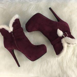 Shoedazzle faux fur stilettos Chanya